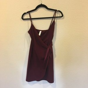 Blue Blush Dresses - Blue Blush burgundy wrap dress wine red